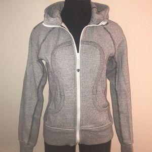 Lululemon scuba hoodie grey stripe women's 4